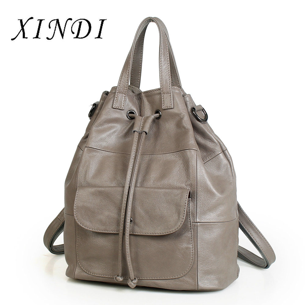 XINDI New 100% Genuine Leather Womens Backpack Real First Layer Cow Leather Ladies Backpacks Travel ipad Cowhide Female BagsXINDI New 100% Genuine Leather Womens Backpack Real First Layer Cow Leather Ladies Backpacks Travel ipad Cowhide Female Bags
