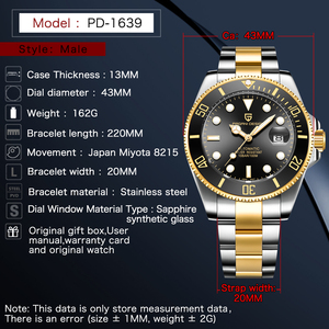 Image 5 - PAGANI DESIGN Top Luxury Men Watch Fashion Sport Waterproof Sapphire High Quality Automatic Mechanical Watches Relogio Masculino