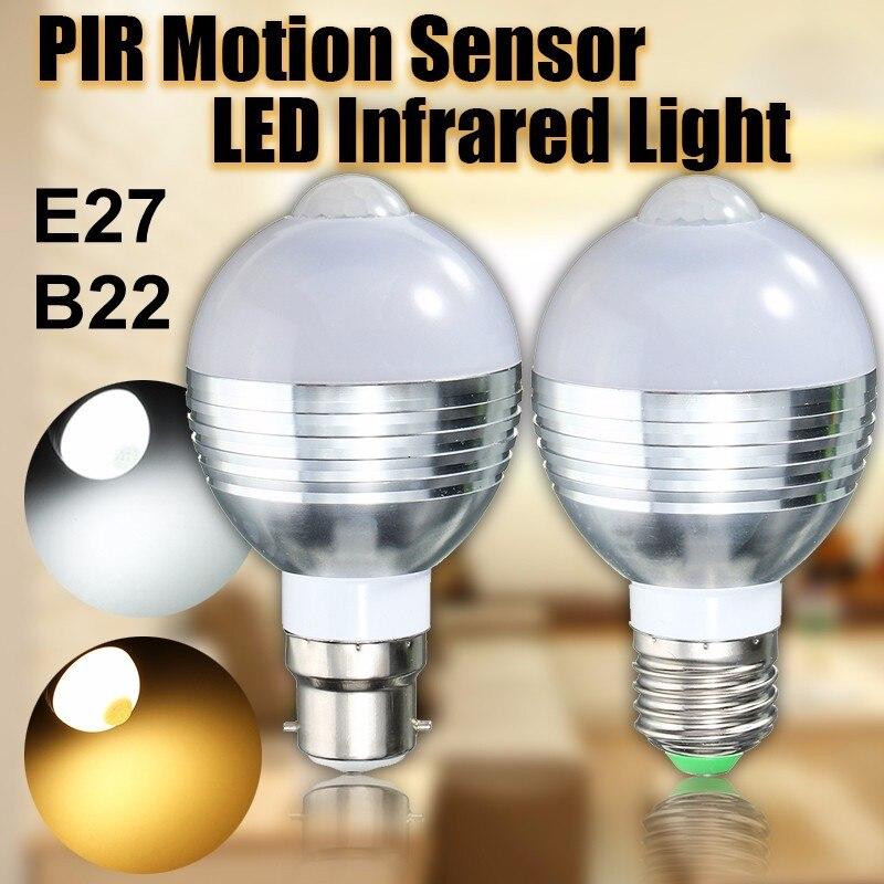 e27 9w 5730 smd white motion pir infrared sensor detection led light lamp bul. Black Bedroom Furniture Sets. Home Design Ideas