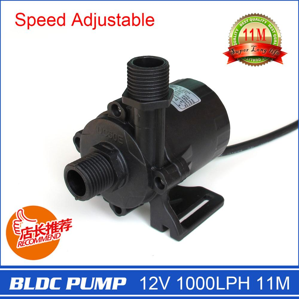 Pompe à eau à vitesse intelligente, Mini taille compacte, vitesse réglable par 3 voies, 12 V 1320LPH 11 M, pour fontaine de jardin, Circulation
