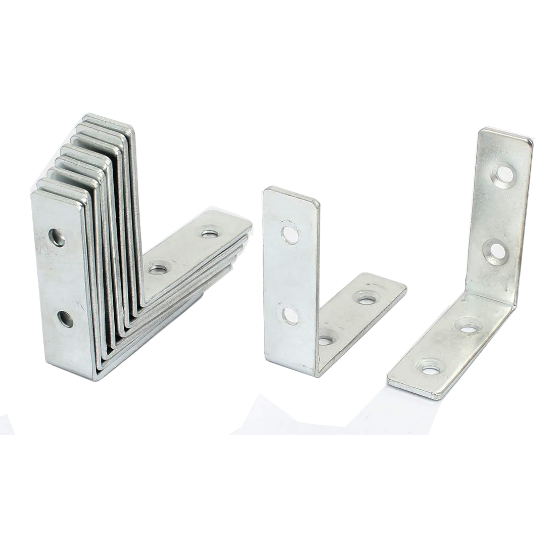 Wholesale 5pcs(10Pcs 50x50mm Corner Brace Joint Right Angle Brackets Fasteners Silver рамка номерного знака dollex spl 16