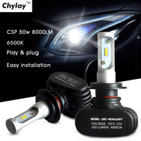 1pair Auto Led Lights H1 9005 9006 H3 H4 H11 H7 Led Car Headlight 50W 6500K