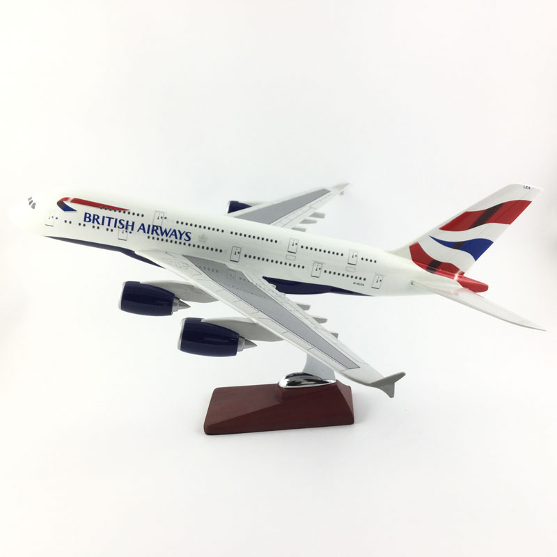 AIR PASSENGER PLANE 45CM A380 BRITISH AIRWAYS AIRCRAFT MODEL MODEL PLANE SIMULATION 45CM ALLOY CHRISTMAS TOYS GIFTS new gjbaw1416 b777 200er british airways g ymmr 1 400 geminijets commercial jetliners plane model hobby
