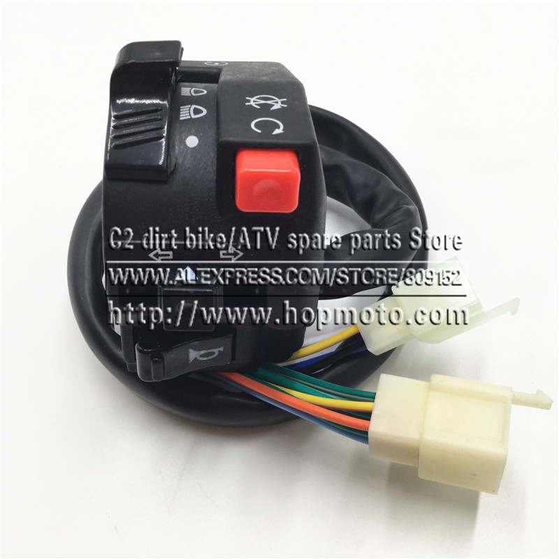 ATV Switch 125-250CC  accessories spare parts for Hummer large Bull dinosaur   five-function switches positive start