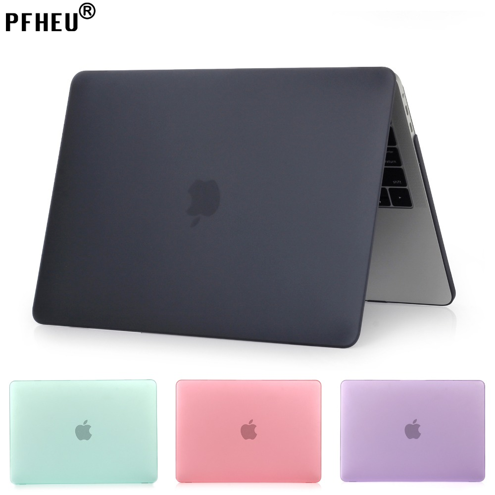 PFHEU, Matte Caso Laptop Para Apple Macbook Pro Retina Air 11 12 13 15, ar 13 A1369 A1466, New pro 13 15 A1706 A1708 A1707 shell