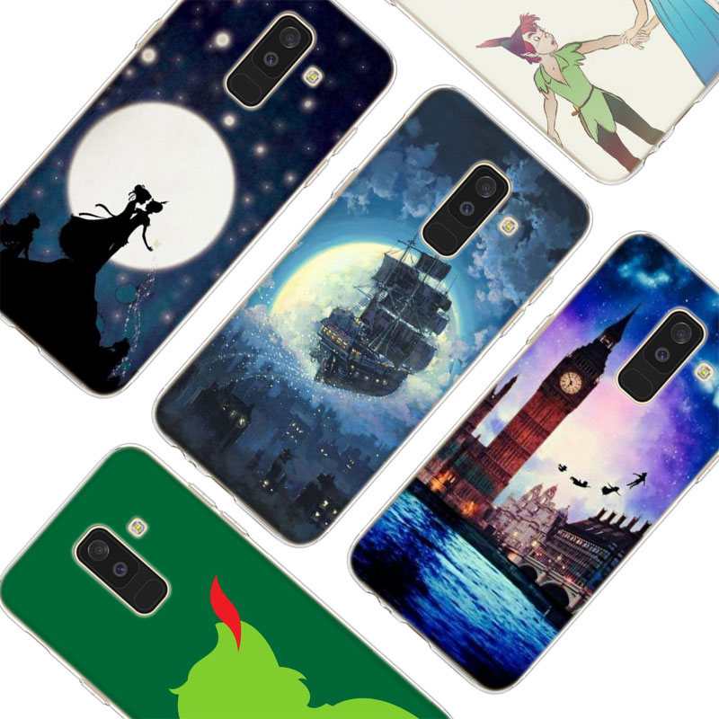 Transparent Soft Silicone Phone Case Peter Pan wendy Tinkerbell For Samsung Galaxy A6 A6 A9 A8 Star A8 A7 A5 A3 Plus 2018 2016 in Fitted Cases from Cellphones Telecommunications