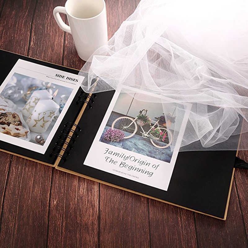 20/40 Pages Scrapbook DIY Photo Album Craft Paper Valentine's Day Gifts Wedding Guest Anniversary Travel Memory Book