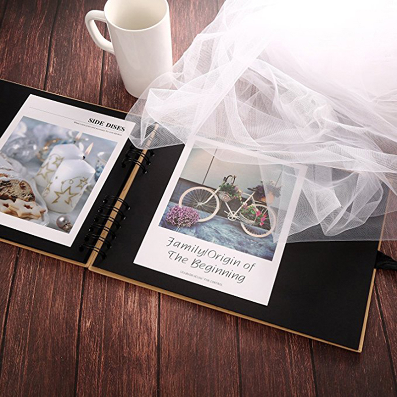 20/40 Pages Scrapbook DIY Photo Album Craft Paper Valentine's Day Gifts Wedding Guest Anniversary Travel Memory Book image