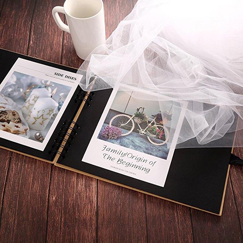 20/40 Pages Scrapbook bricolage Album Photo papier artisanal saint valentin cadeaux mariage invité anniversaire voyage mémoire livre