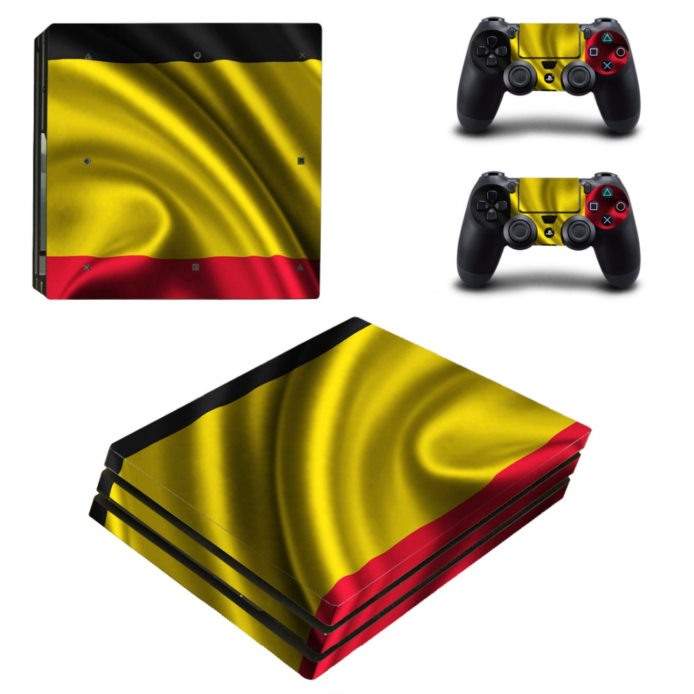 Golden Style PS4 PRO Skin Sticker for Sony PS4P Console and 2 Controllers Decal Cover Game Accessories