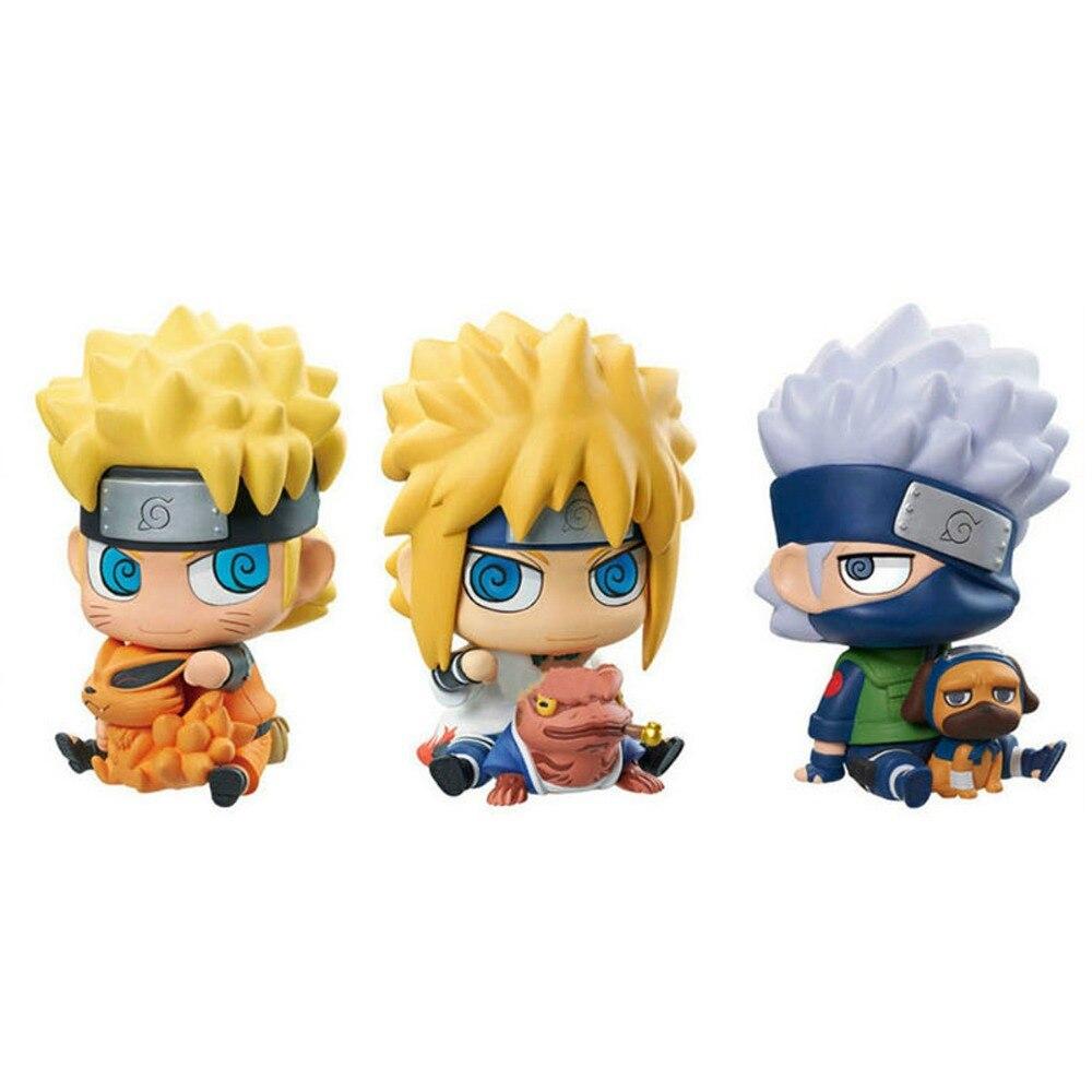 3pcs Lot NARUTO Naruto/Namikaze Minato/Kakashi Vinyl 18cm/7 Figure Toy New Loose Free Shipping 2 pcs set 18 cm 7 cartoon the last naruto