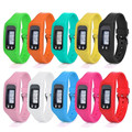 Fish SunDay Digital LCD Pedometer Run Step Walking Distance Calorie Counter Watch Bracelet Levert Dropship Dec10