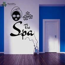 YOYOYU Wall Decal Girls Spa Salon Vinyl Stickers For Livingroom Body Massage Home Decor Beauty Art Sign DIY JM3