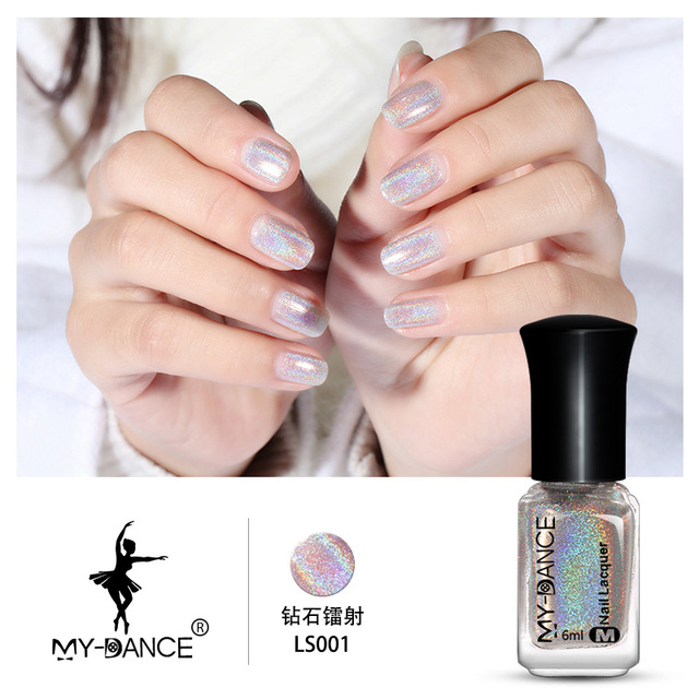 15 Colors 6ml Mydance Holographic Holo Glitter Nail Polish