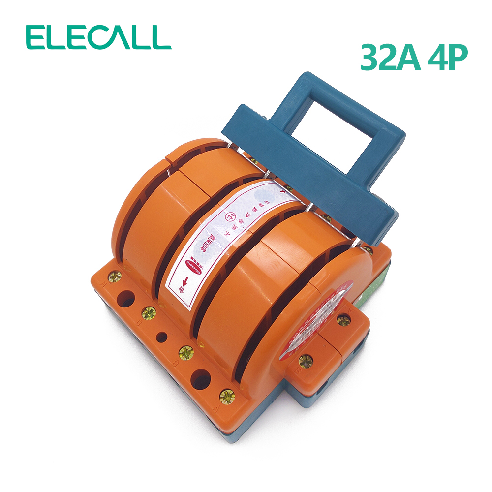 ФОТО Wholesale Heavy Duty 32A Four Poles Double Throw Knife Disconnect Switch Delivered Safety Knife Blade Switches