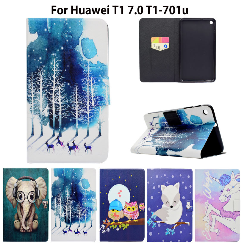Fashion For Huawei T1 7.0 T1-701u Silicone PU Leather Cover Case Funda For Huawei MediaPad T1 7.0 T1-701u Tablet Skin Stand Case проектор sim2 lumis 20 t1 black