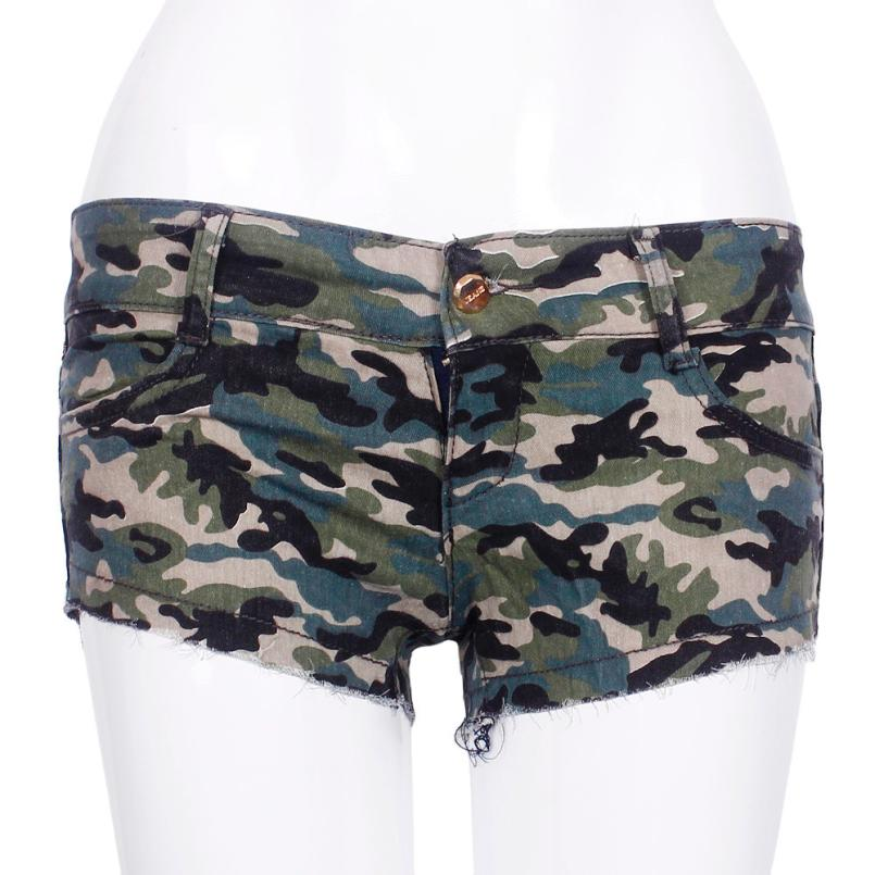Cool Jeans New Fashion  Sexy Womens High Quality Camouflage Jeans Short Shorts Hot Denim Low Waist Pants 2017 sexy womens camouflage jeans short shorts hot denim low waist pants button jeans