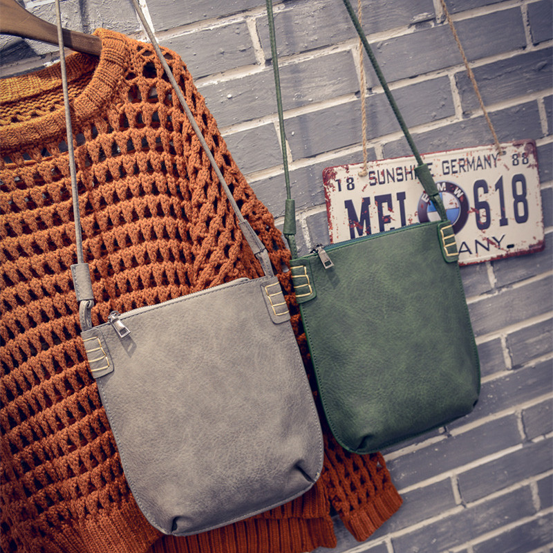 VEEVANV 2016 Hot Korea Style Ladies Retro Matte Handbag Concise Fashion Small Shoulder Bag Woman Designer Messenger Bag