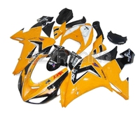 Injection Fairings Kits for Kawasaki ZX10R 2004 2005 Year 04 05 Complete ABS Plastic Motorcycle Body Kit Yellow Panels Kits