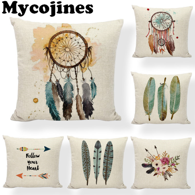 Table & Sofa Linens Nordic Arrows Geometric Stripes Simple Square Beige Pillow Cases Sofa Chair Cushion Cover Shop House Home Decorations For Gift Home Textile