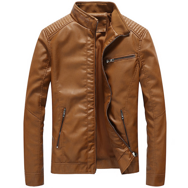 Large Size M 5XL Men Leather Coat Leather Jacket Motorcycle Jackets Male Skin Overcoat Leather For 2018 Autumn Winter