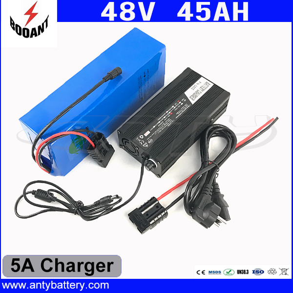 Lithium Scooter Battery 48V 45AH For Bafang Motor 1800W With 5A Charger eBike Battery 48V Built-in 50A BMS Free Shipping battery 48v 14 5ah 1000w for panasonic cell lithium battery 48v with 2a charger built in 30a bms ebike battery 48v free shipping