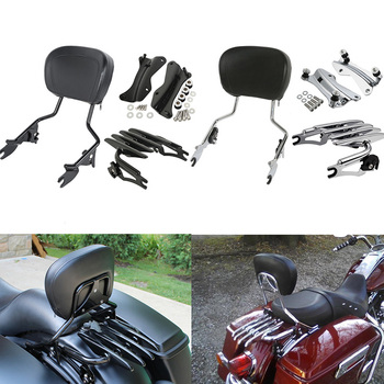 Motorcycle Detachable Backrest Sissy Bar Luggage Rack For Harley Touring Road King Street Glide Road Glide CVO FLTRXS 2014-2020 for harley touring road king street glide electra glide detachable backrest sissy bar with stealth luggage rack 2009 2018 2019