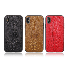 GT leather Crocodile Head Patterns mobile phone case for iPhone x 8plu