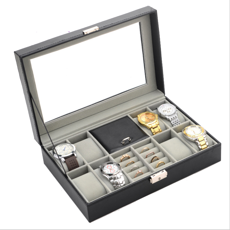2019 New 8 Grids Watch Case & Jewlery Box Watch Boxes Casing for Hours Sheath for Hours Box for hours Watch 61 hours