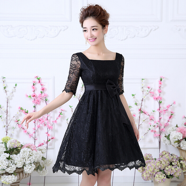 1dd9f8c03b5 modest girls short party prom dresses gowns special occasion elegant black  dress with sleeves under 100