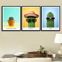 Watercolor A4 Art Print Poster Minimalism The Cactus Modern Abstract Wall Picture Canvas Painting Living Room Home Decoration(China)