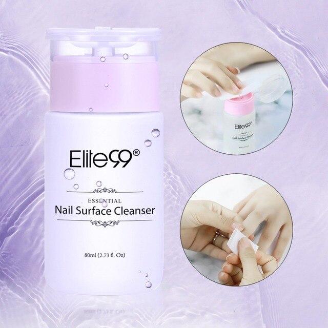 Elite99 80 ml Nagel Oberfläche Reiniger Nagellack UV Gel Klebrige Entferner Verbessern Glanz Wirkung Reiniger Remover Nail art Remover werkzeug