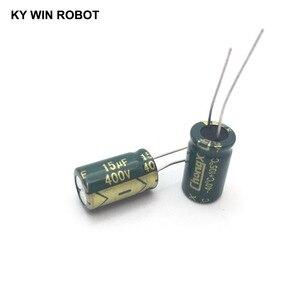 Image 4 - 10 шт. алюминиевый электролитический конденсатор 15 мкФ 400 в 10*17 мм frekuensi tinggi, радиальный электролитический конденсатор