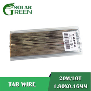 20M/LOT Ribbon Tabbing wire DIY connect 1.80x0.16mm solar cells tab bus bar wire for PV Strip Solar panel flux pen 951 kester(China)