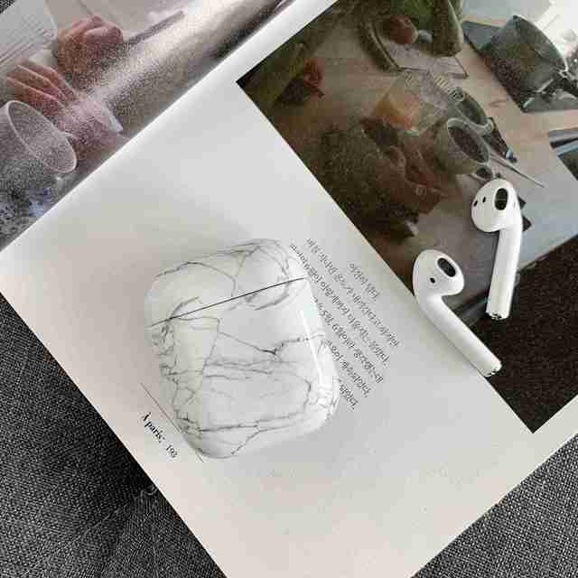 Case For Original Apple Airpods Case Marble Cute Cover For Apple Airpods 2 1 Case Accessories Headphones Air Pods Case Box Coque 3