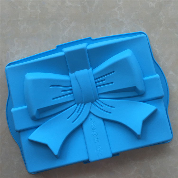 Square bow Birthday Cake Mold Silicone Cake Baking Pan/Silicone Mold for Anniversary Birthday Cake, Loaf, Muffin, Brownie      - AliExpress