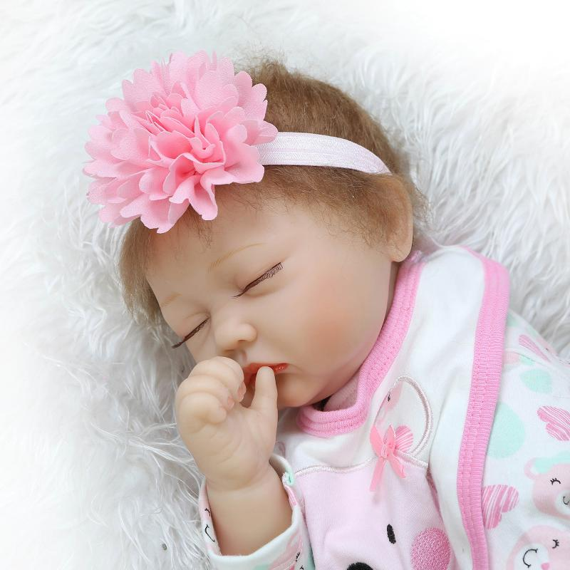 Real Reborn Babies Sleeping Dolls for Girls Toys Gifts,50 CM Realistic Reborn Baby Silicone Dolls With Clothes Headwear бра colosseo 81625 1w nestore