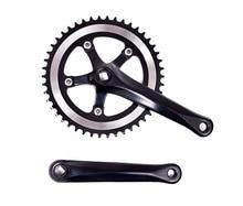 цены на 1 piece road Bicycle Crank + Chainwheel Single 46T Speed 170mm aluminum Fixed Gear Bike Crankset free shipping   в интернет-магазинах