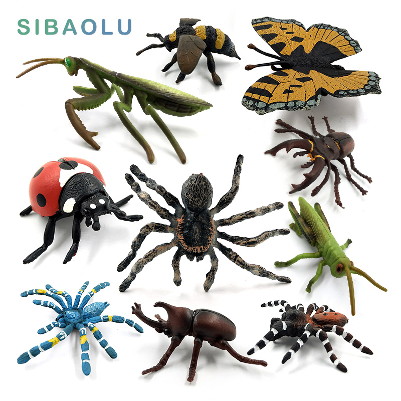 Simulation animals model insect Stag Beetle Spider honeybee ladybird Mantis butterfly figurine home decor decoration accessories