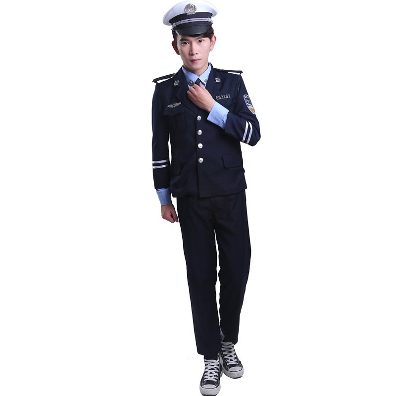 traffic police costumes for children police uniform chinese police uniform police officer clothing military costumes denim