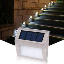 Stainless Steel LED Solar Wall Light Outdoor Wall Lamp Pathway Garden Stair Decorated Energy Saving Solar Lamp for Yard 2pcs/lot