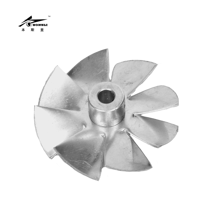 Aluminum Small Fan Blade Impeller Vane Aluminum 70mm Diameter