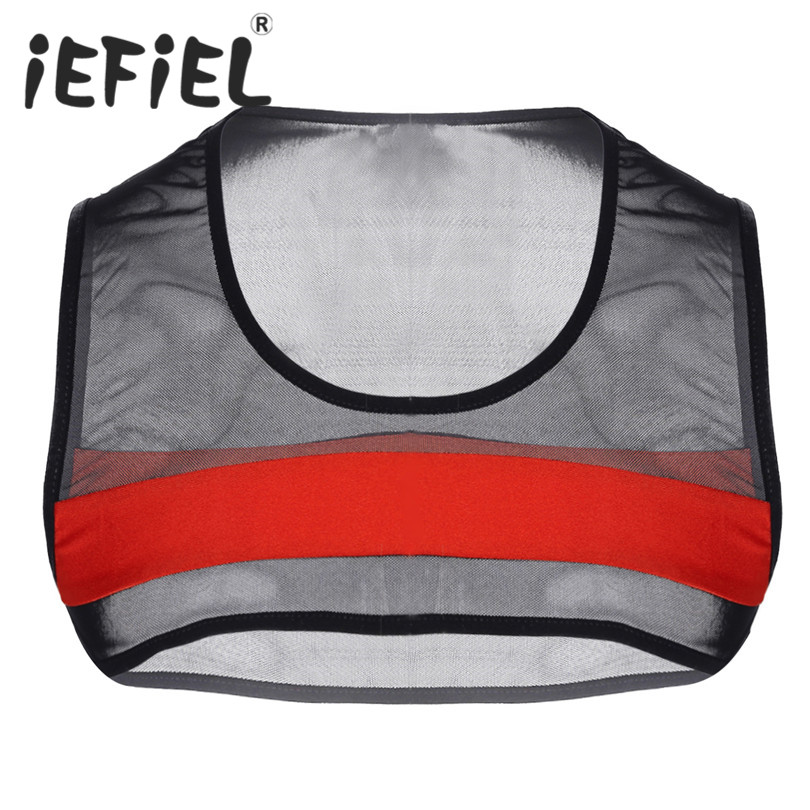 Alert Mens Casual T Shirts Running Vests See Through Mesh Fishnet Sexy Shoulder Chest Strap Harness Muscle Clubwear Costume Half Top Vests