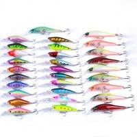 30pcs/set 7.28g 8g 11.48g Fishing Tackle 3D Eyes Minnow Fishing Lure Fishing Baits Crank Peche Wobblers Japan Bait