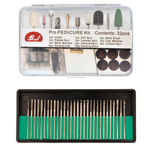62 Pcs 3 32 Pro Electric Durable Nail File Art Drill Bits Polished Grinding Head Manicure