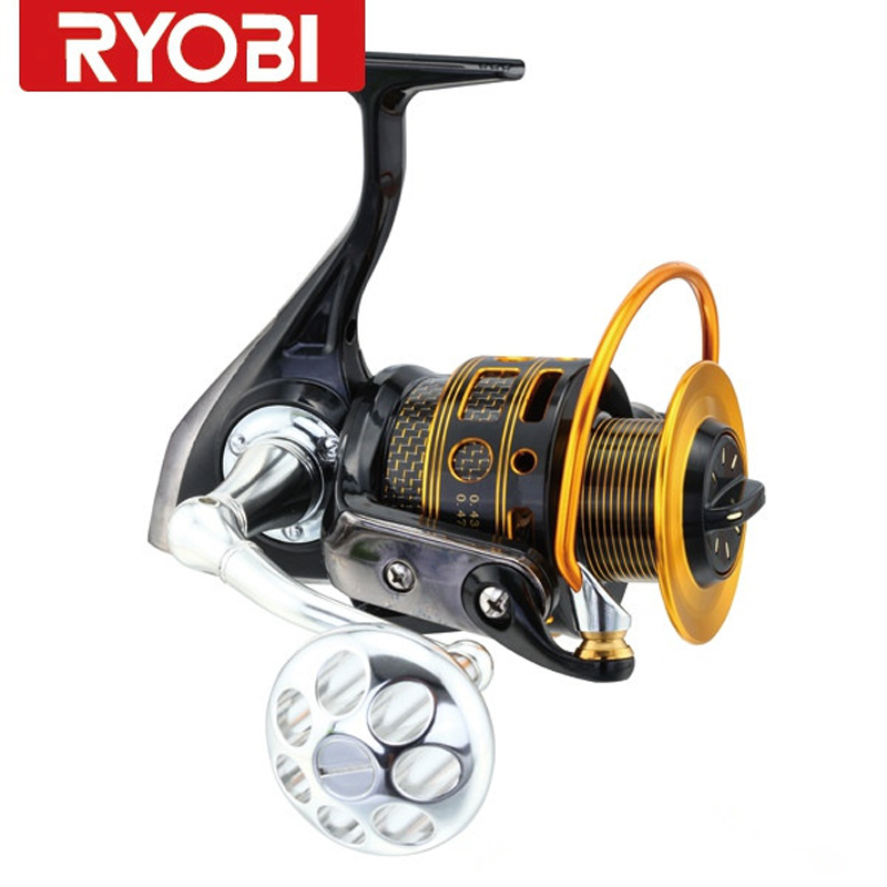 RYOBI ARCTICA 1000-8000 Series Golden Aluminum Spool 6BB Full Metal Spining Fishing Reel Molinete Peche Carretilha De Pesca цена