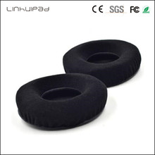 Linhuipad 2PCS black Velour Cushion ear pads earpad seals pillow foam cove for HD205 HD215 HD225 ATH-T2 Pro700 Headphone linhuipad 50 pack 9cm velour ear pad cushion for hd205 hd225 hd215 pioneer hdj2000 hdj1000 headphone 90mm replacement ear cup