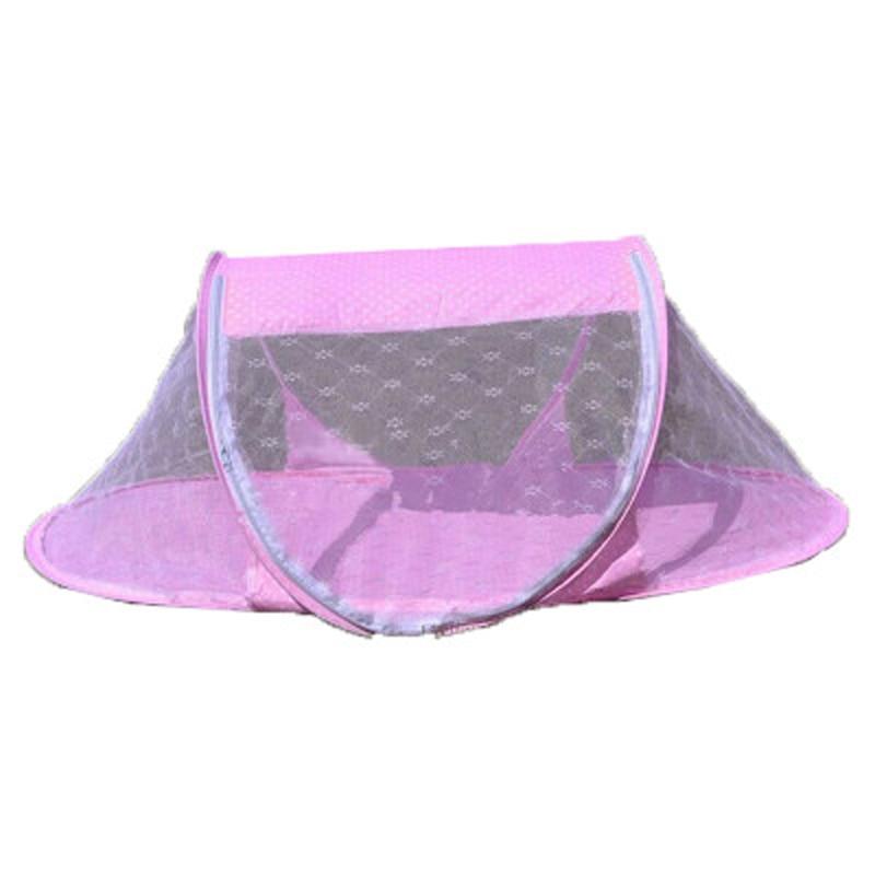 Summer Tent For Children Baby Infants Mosquito Mesh Crib Netting Portable New Born Bed Cribs Folding Net Cushion Mattress T0144