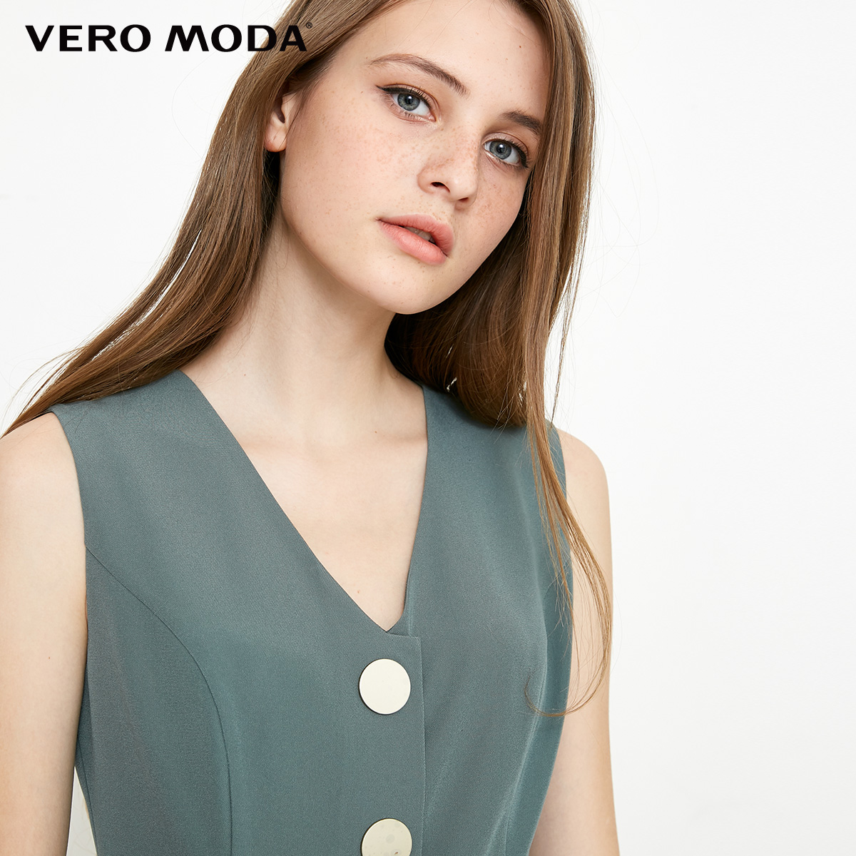 Vero Moda spring fashionable V-collar loose-leg cropped Jumpsuits for women |318144507 4