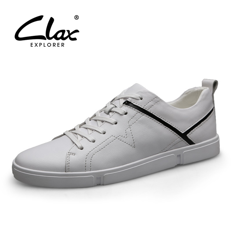CLAX Mens Leather Shoes 2019 Man s Shoe Genuine Leather Designer Male Walking Footwear Fashion Leisure